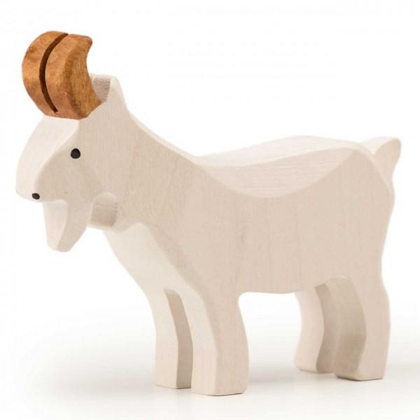 Trauffer Ziegenbock stehend weiß
