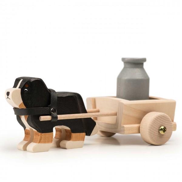 Trauffer Berner Sennenhund mit Wagen