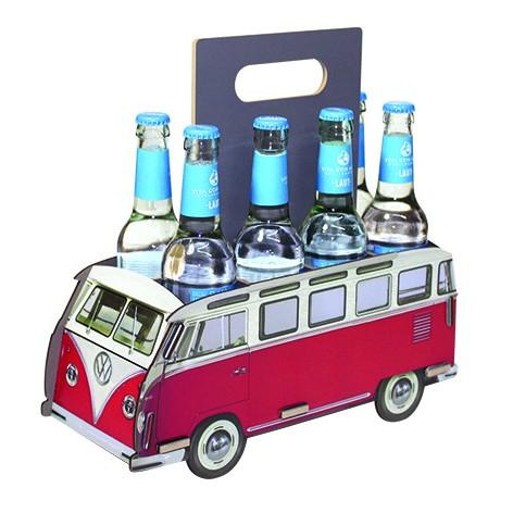 Flaschenträger Sixpack VW T1 8er rot