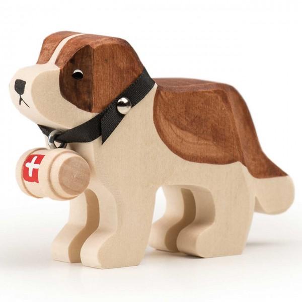 Trauffer Hund Barry mit Fässchen