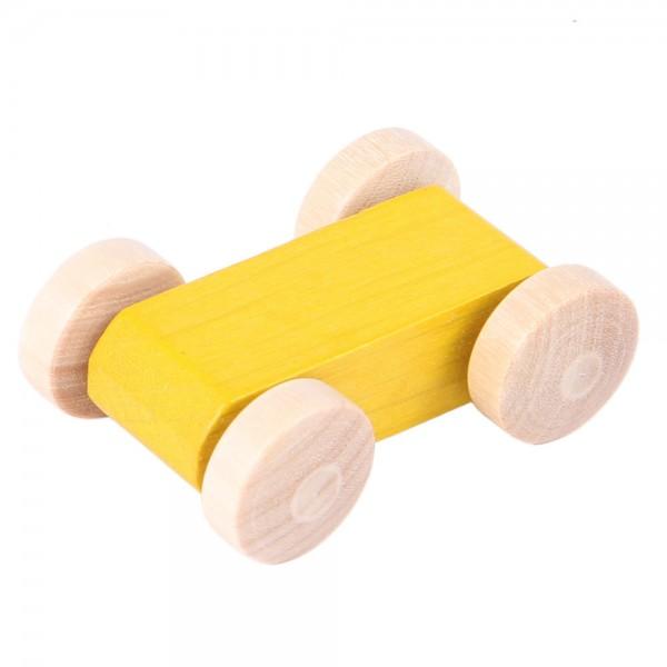 Rennauto gelb für Laufbahn