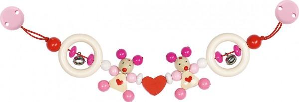 Kinderwagenkette Maus rosa