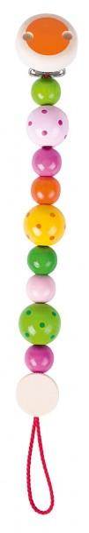 Schnullerkette Perlen bunt