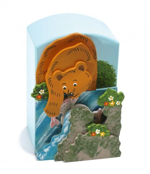 Spieluhr Bär fängt den Fisch