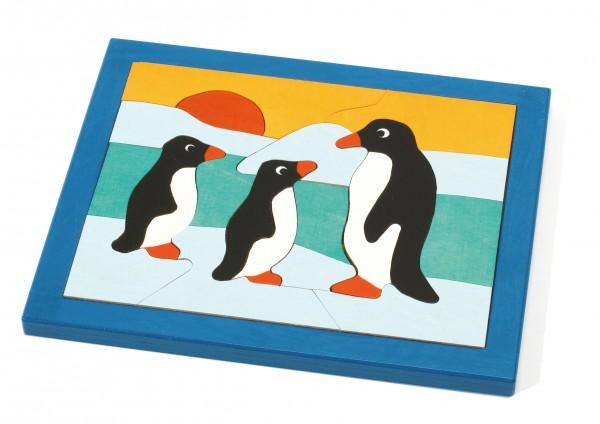 Puzzle Pinguin klein handbemalt