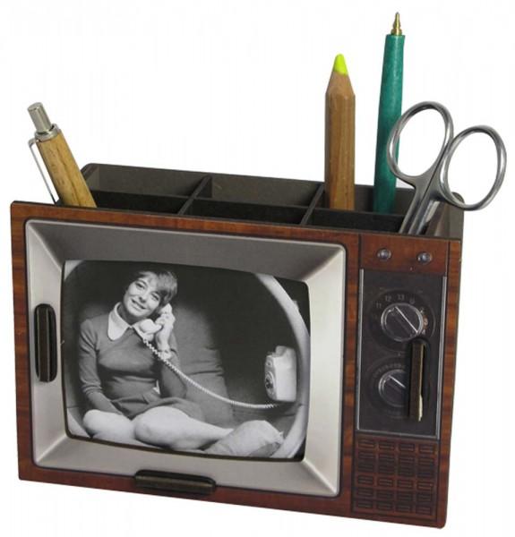 TV Stiftbox braun